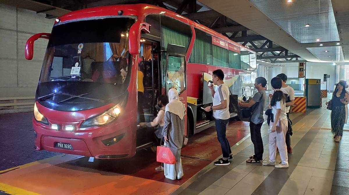 Autobús de TBS a Malaca