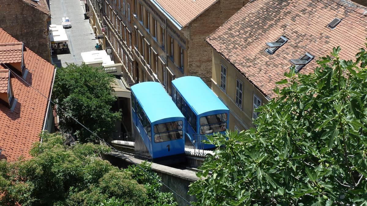 Blue Cable Car