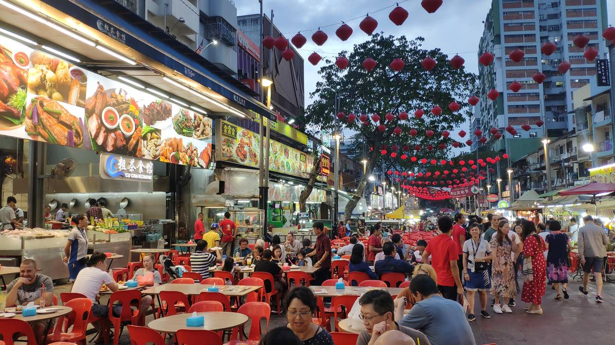 Calle Jalan Alor en Bukit Bintang