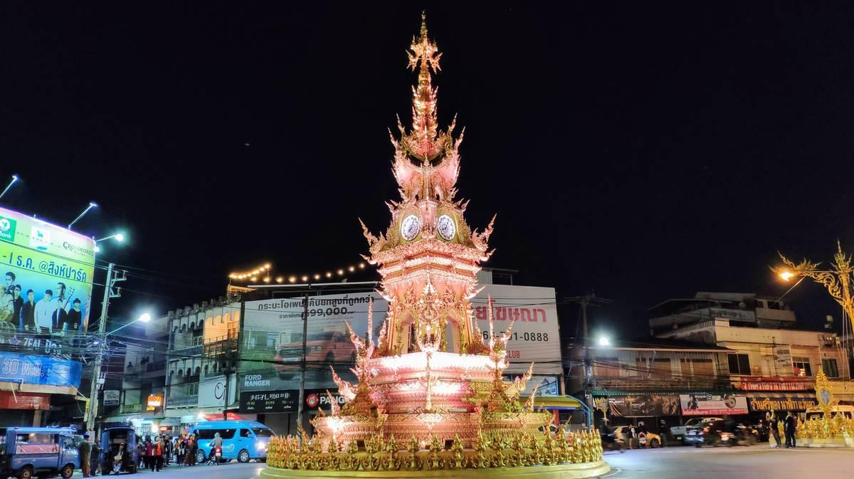 Torre del Reloj Dorado de Chiang Rai