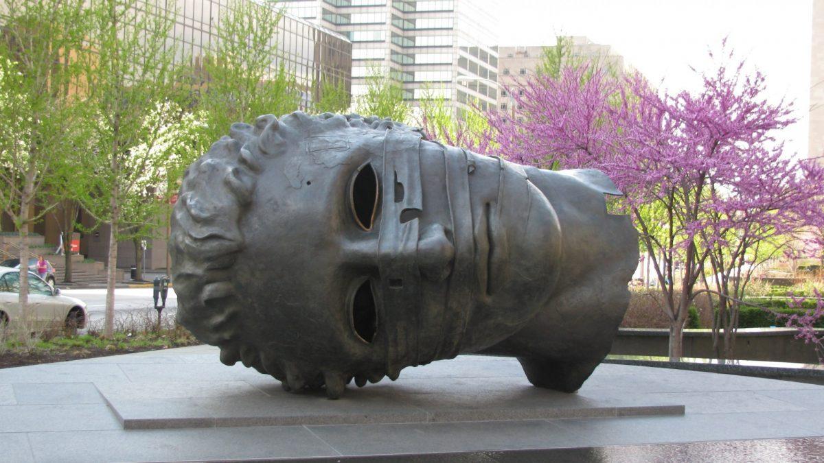 Escultura en el Citygarden Sculptures Park
