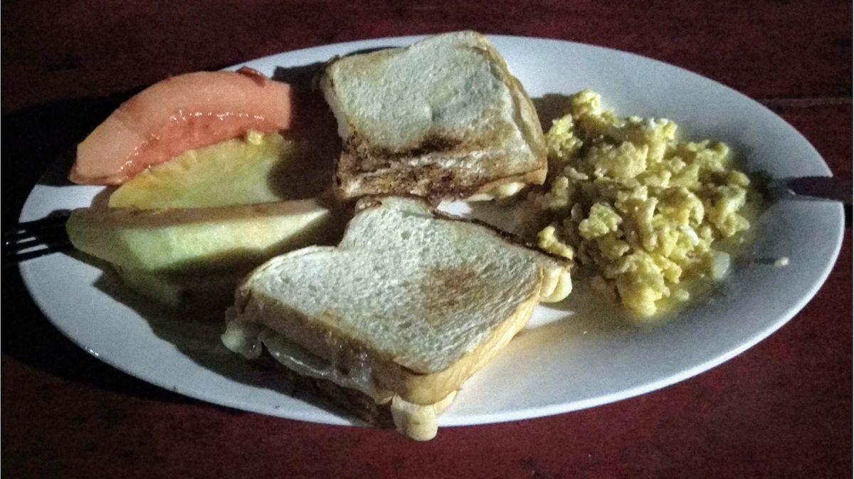 Camp Adan breakfast