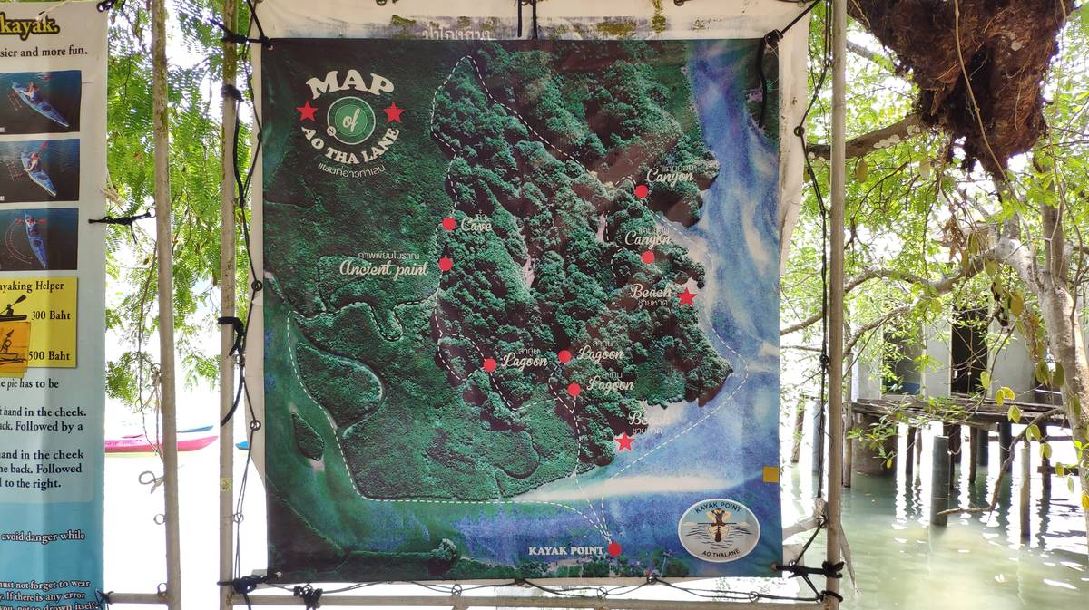 itinerario kayaking ao thalan