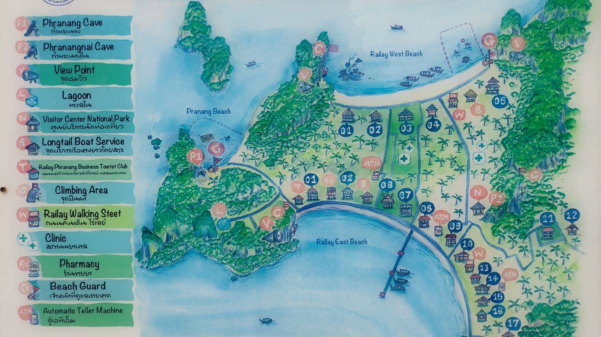 mapa bahia railay