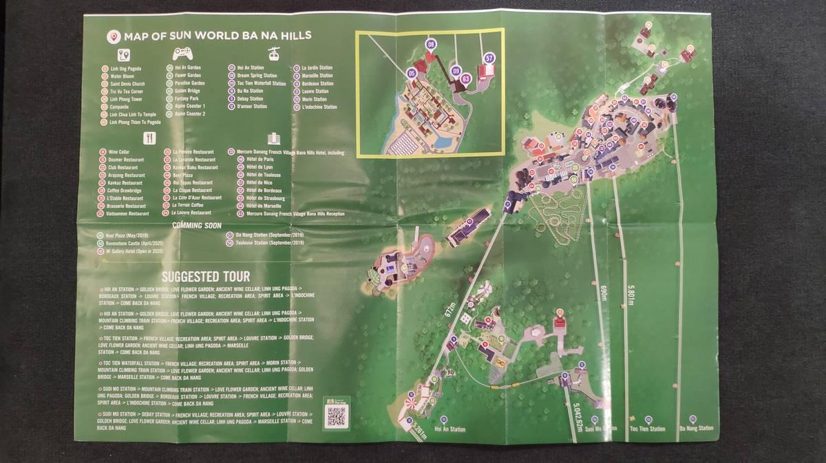 mapa parque atracciones ba na hills