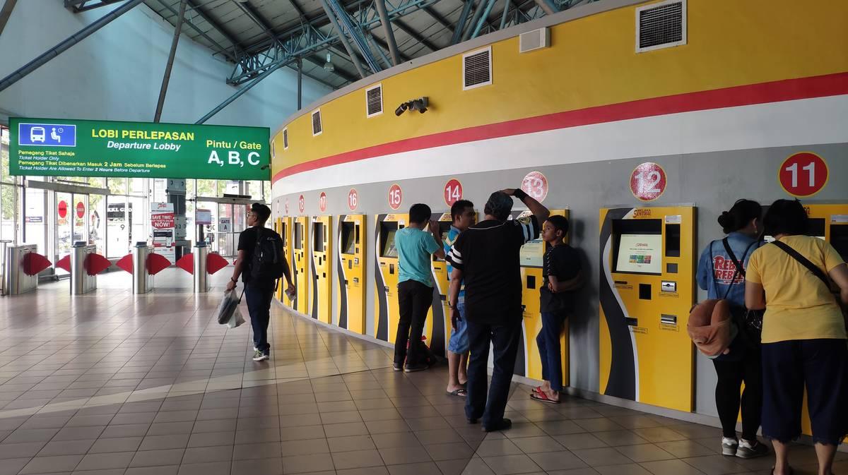 Melaka Sentral maquinas billetes