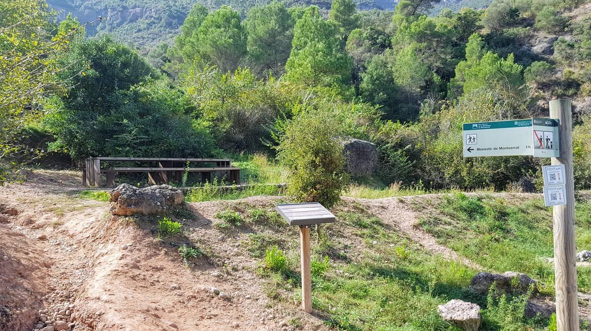 Zona de picnic en Monistrol