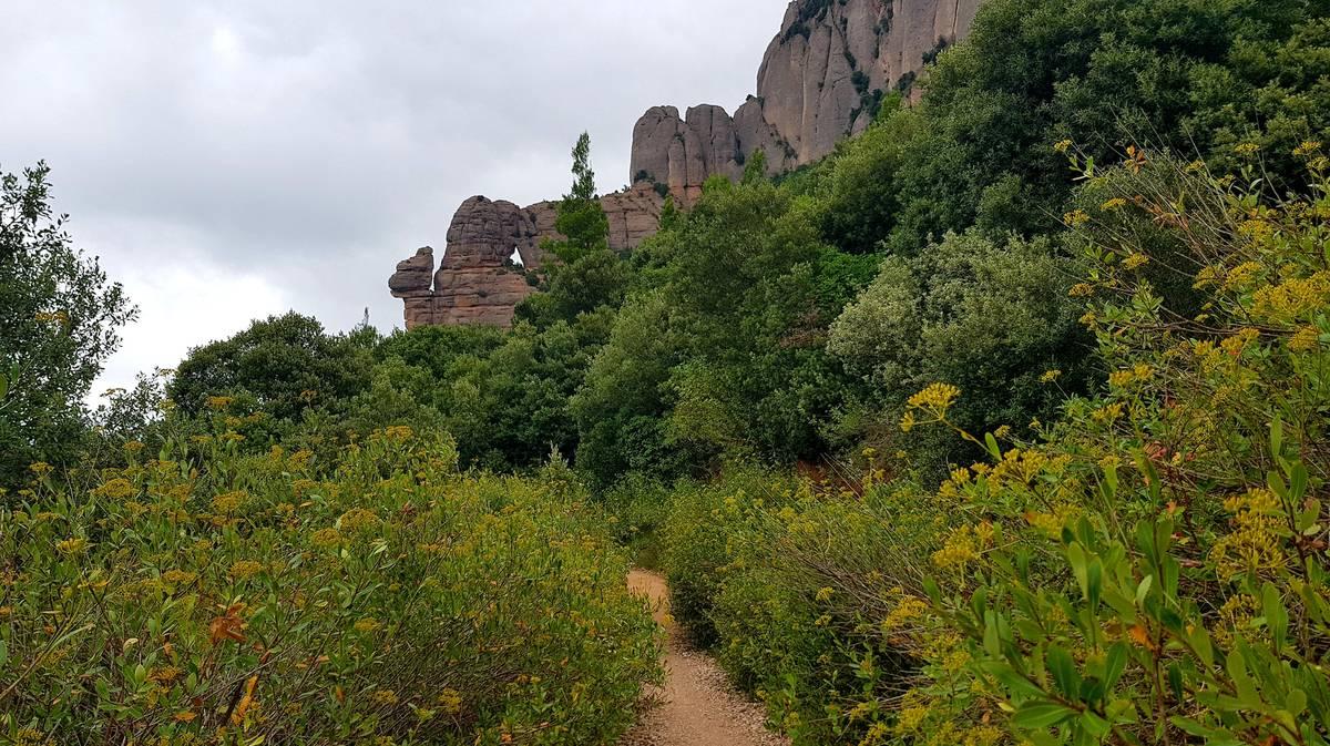 La roca del Caracol en Montserrat