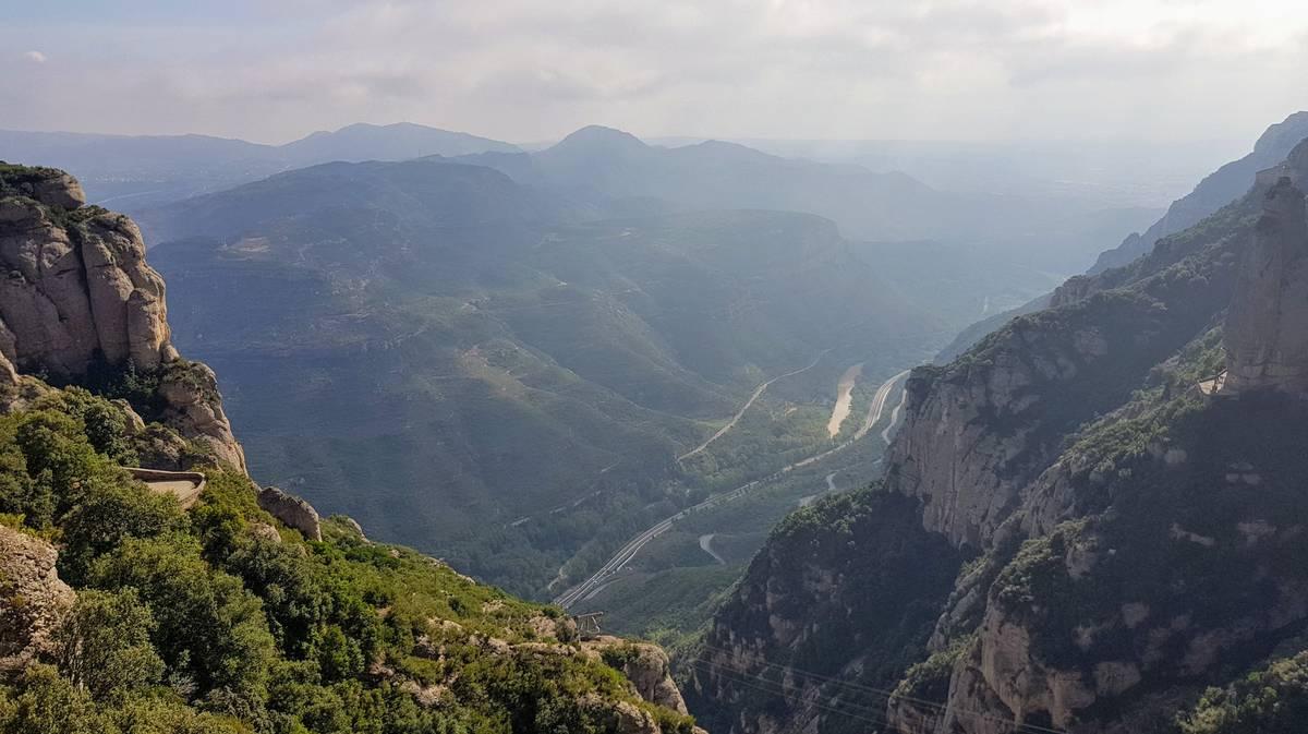 Vistas desde el Aeri de Montserrat