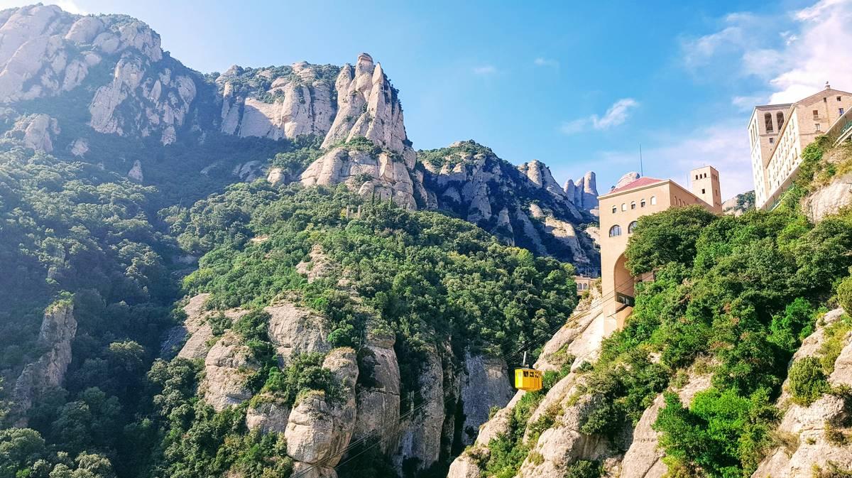 El teleférico amarillo de Montserrat