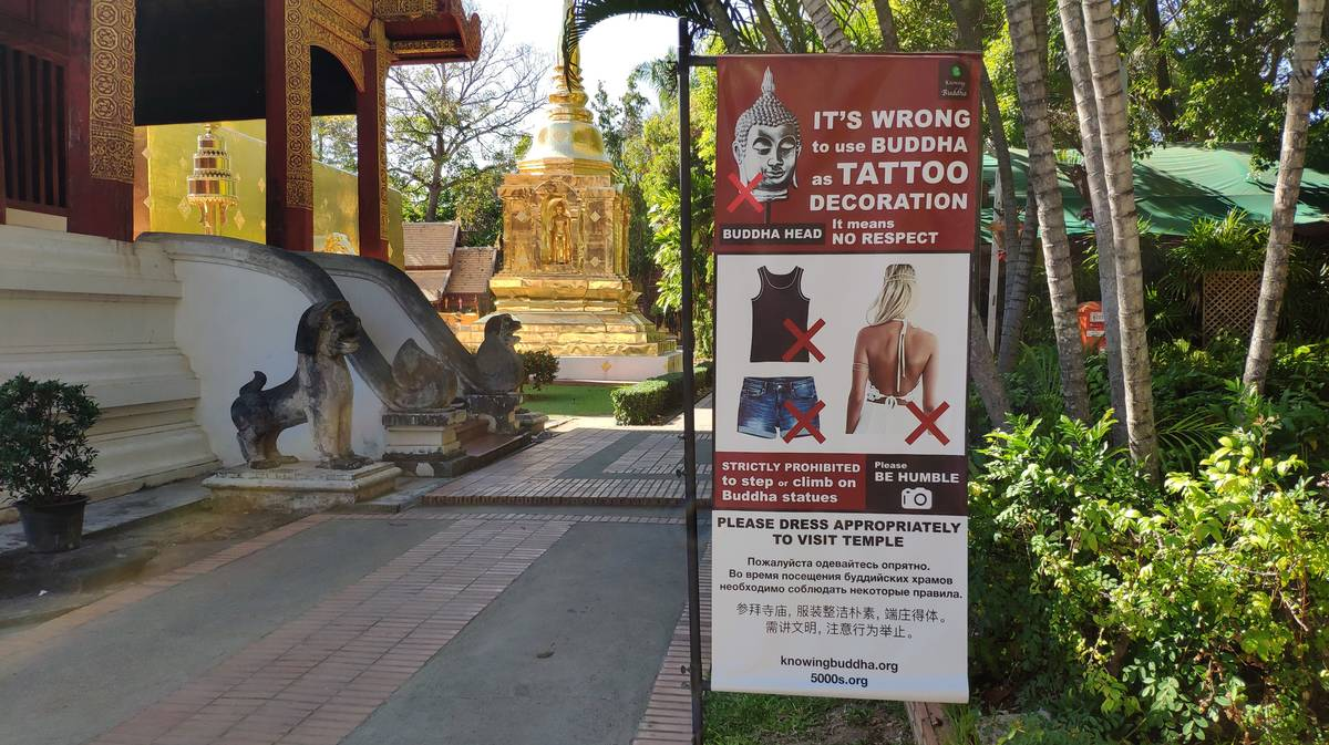 normas vestimenta templos tailandia 1