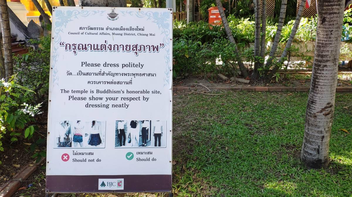 normas vestimenta templos tailandia 2