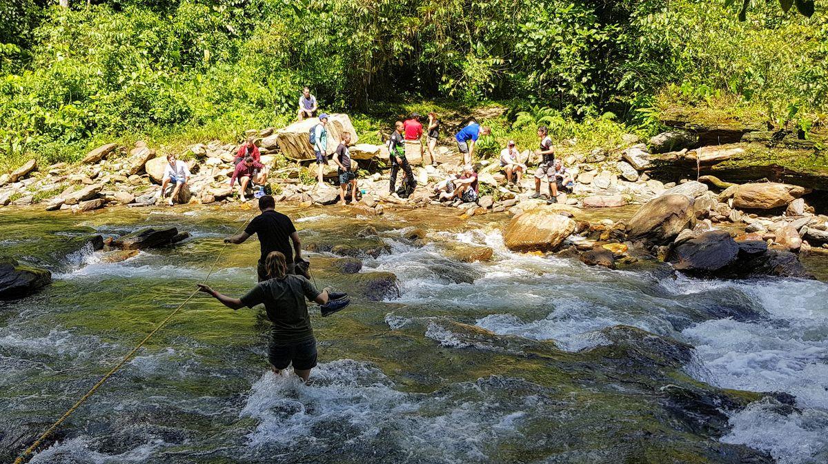 Buritaca river crossing