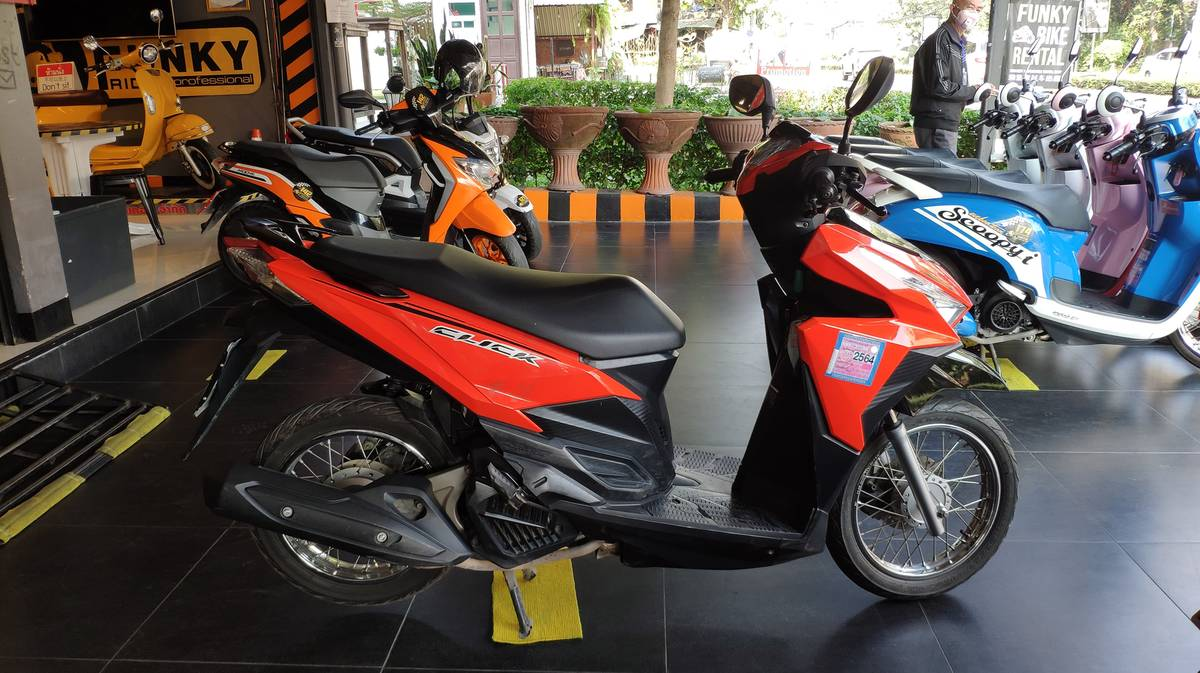 samoeng loop en moto