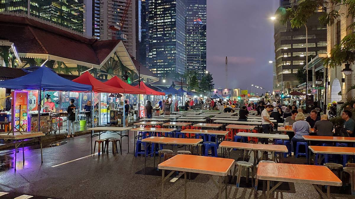 Lau Pa Sat Food Court en Singapur