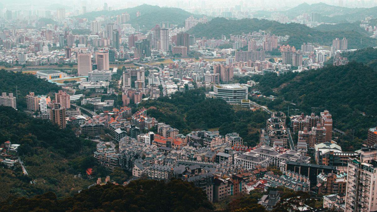 Vista aérea desde el teleférico de maokong