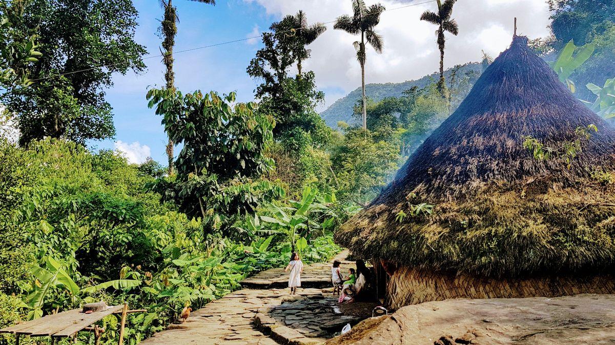 cabaña tribu kogui