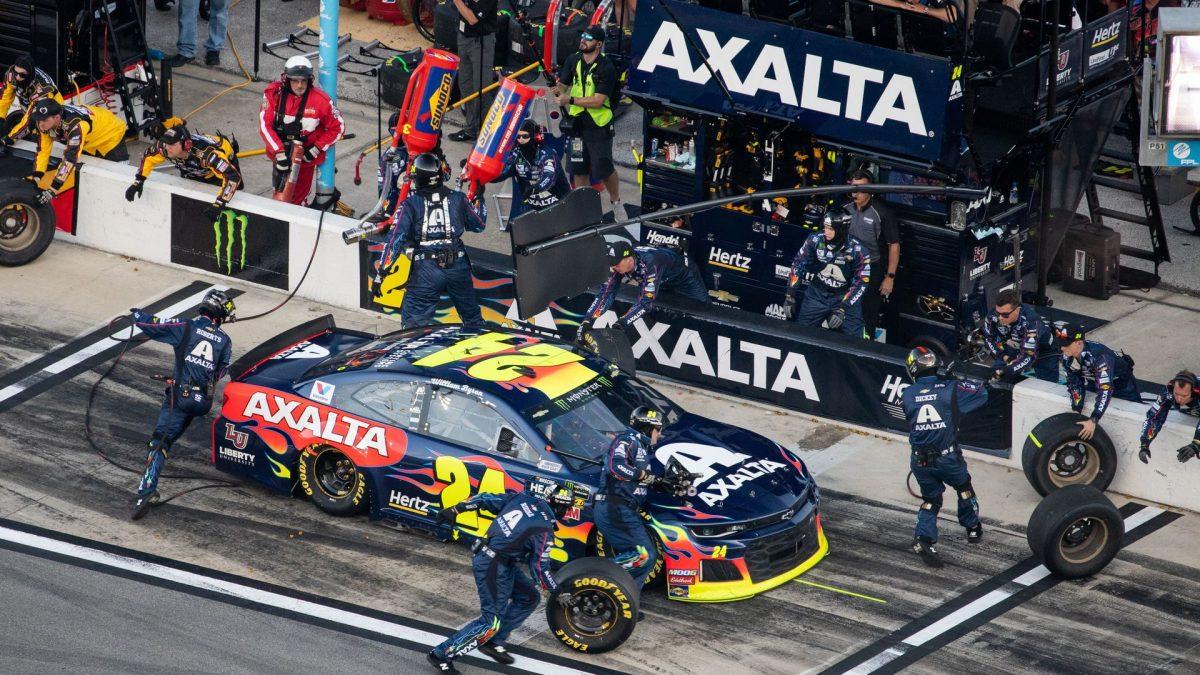 Coche de carreras NASCAR.