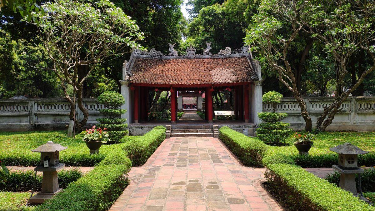 Portón Dai Trung en el Templo de la Literatura