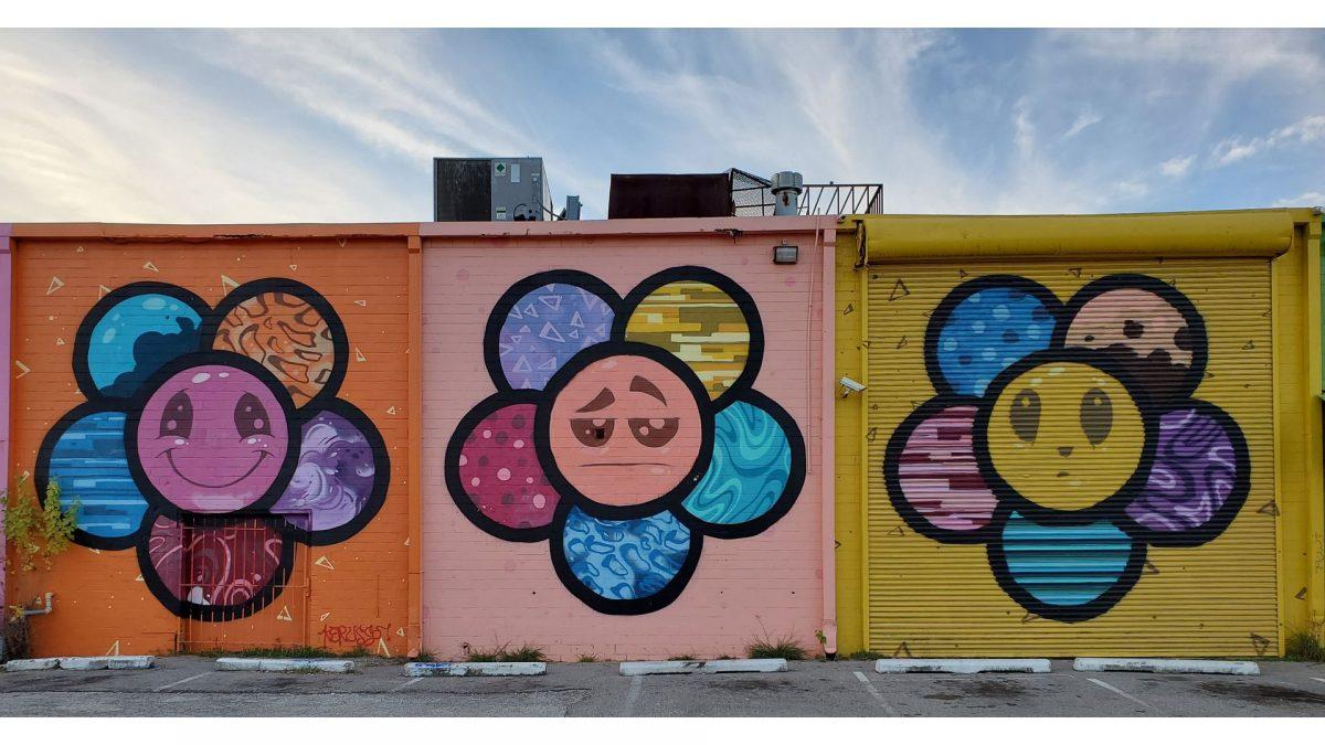 Arte urbano en el Arts District de Houston