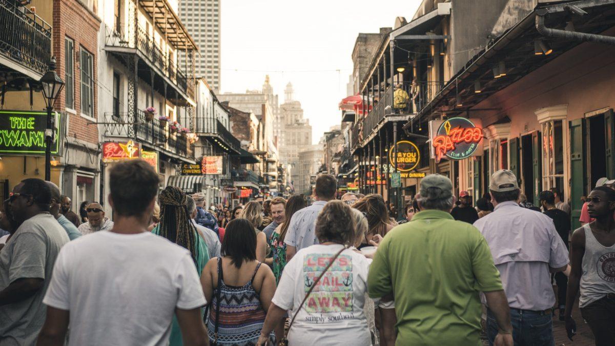 Bourbon Street, en el corazón del Barrio Francés de Nueva Orleans