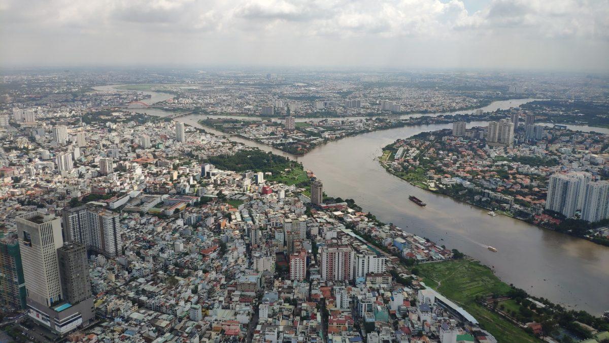 Vistas de Ho Chi Minh desde Landmark 81