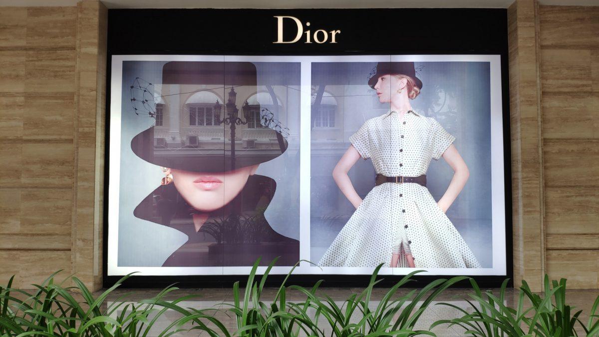 Escaparate Dior en la Calle Dong Khoi