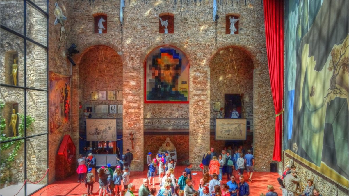 Interior del Teatro-Museo Dalí en Figueres