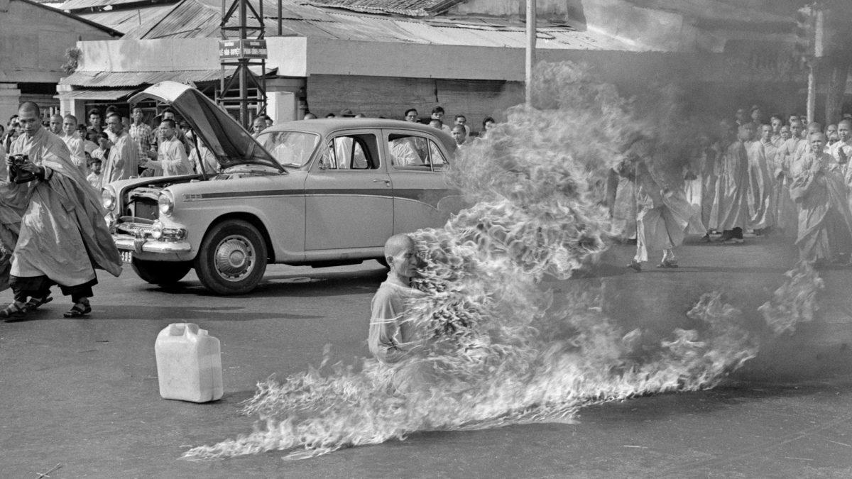 Monje budista que se quemó a lo bonzo