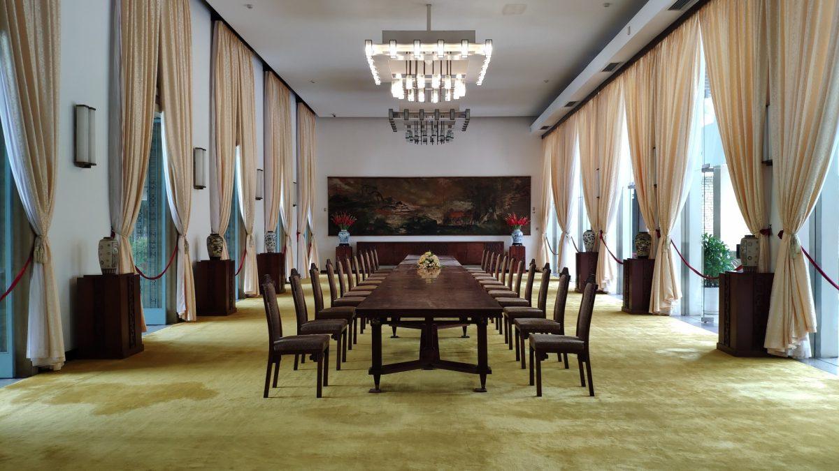Una de las salas del interior del Palacio de la Reunificación