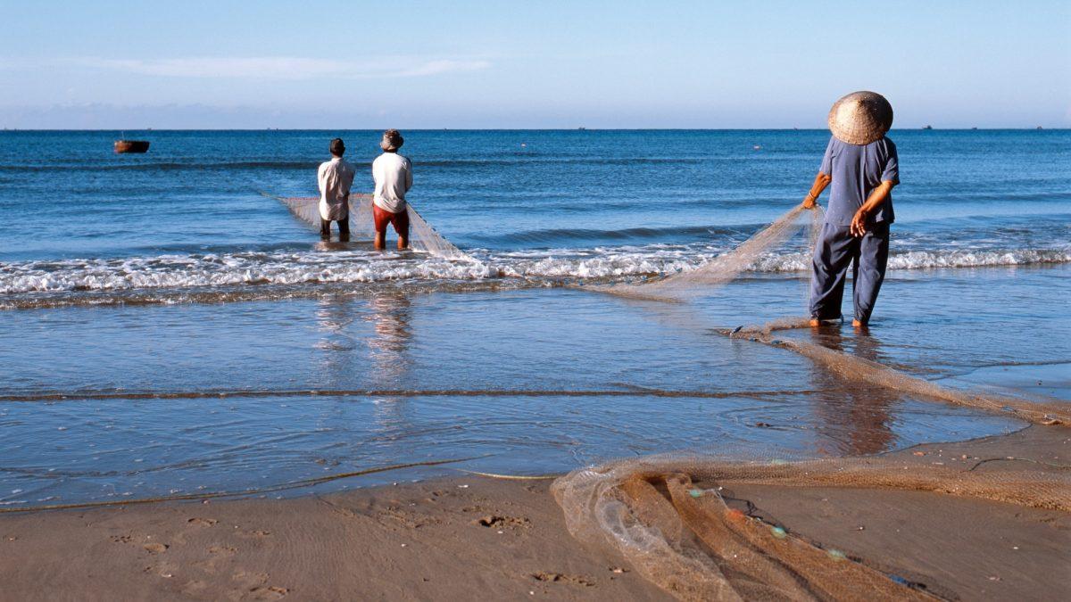 Pescadores en Mui Ne