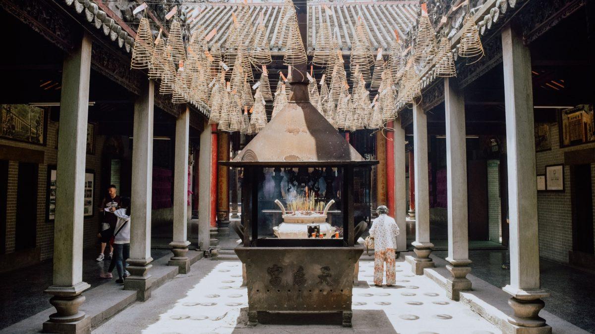 Patio interior del Templo Thien Hau