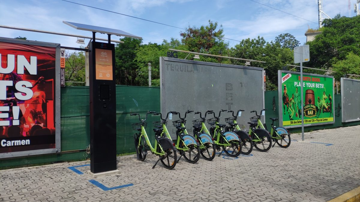 Estacionamiento de bicicletas de Biciplaya