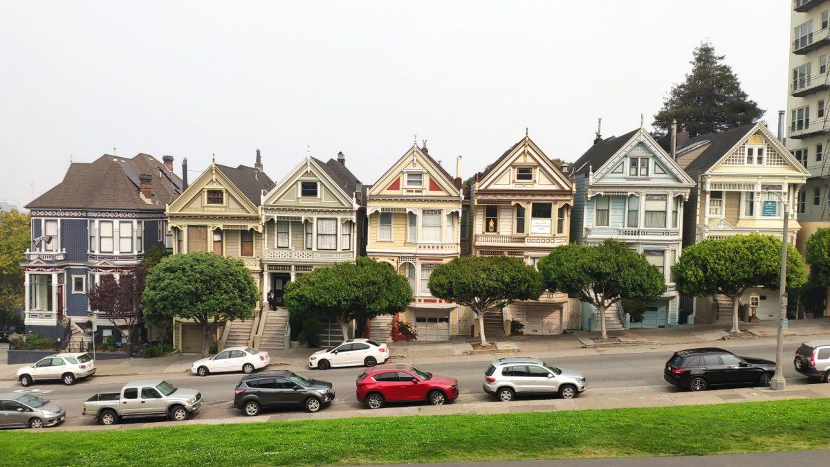 Las Painted Ladies en Álamo Park en San Francisco