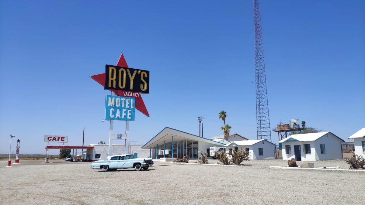 Roy's Motel & Cafe en Amboy, sobre la Ruta 66