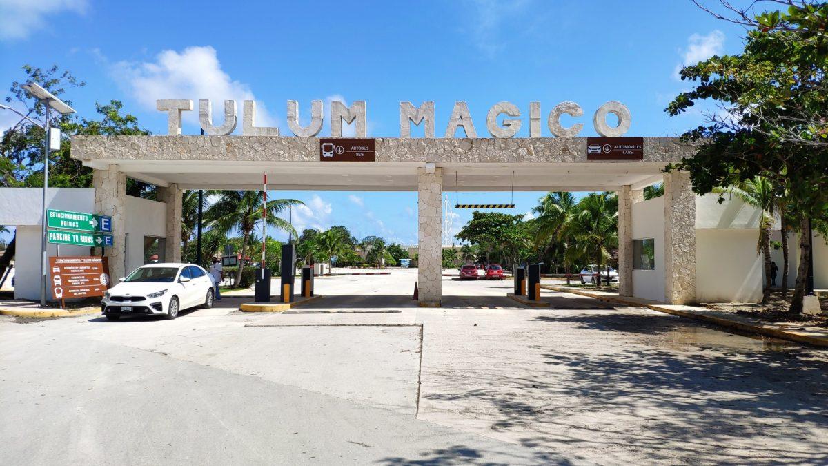 Entrada parking Zona Arqueológica de Tulum