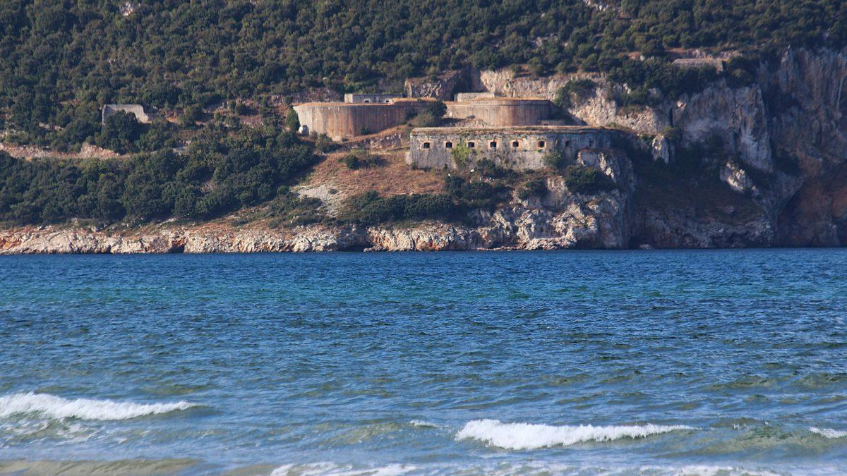 Fuerte de San Carlos desde la Bahía de Santoña