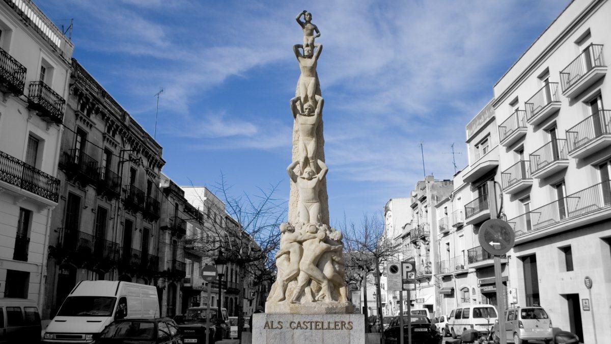 Monumento Als Castellers en Vilafranca del Penedès