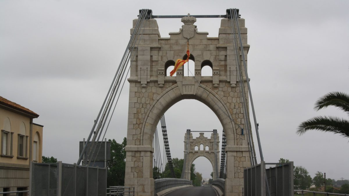 Puente colgante Amposta