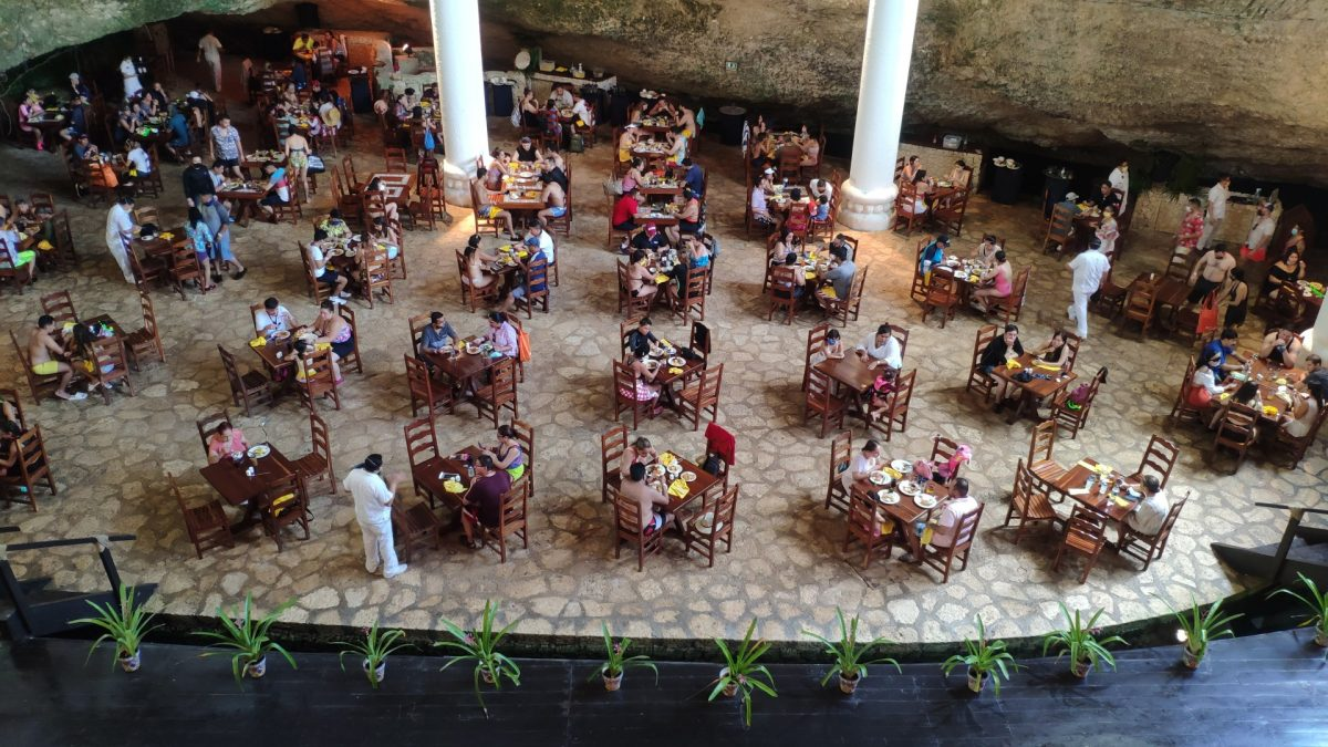 Restaurante La Isla en Xcaret