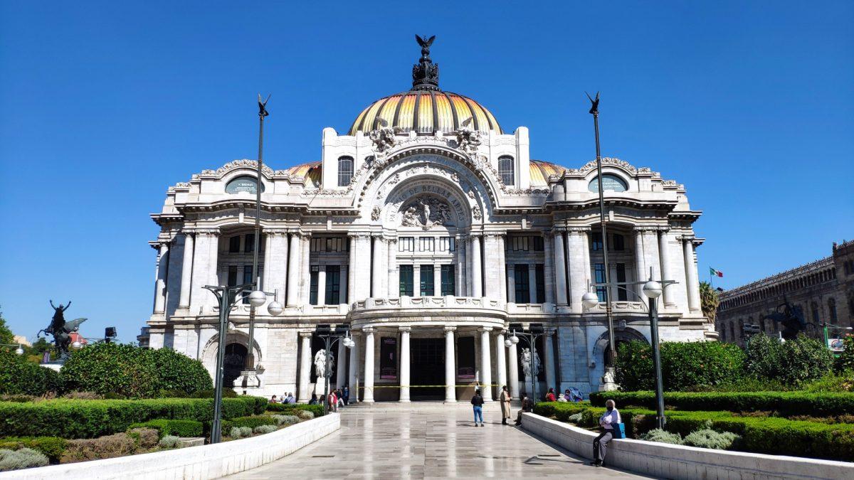 Palacio de Bellas Artes en el Centro Histórico de la Ciudad de México