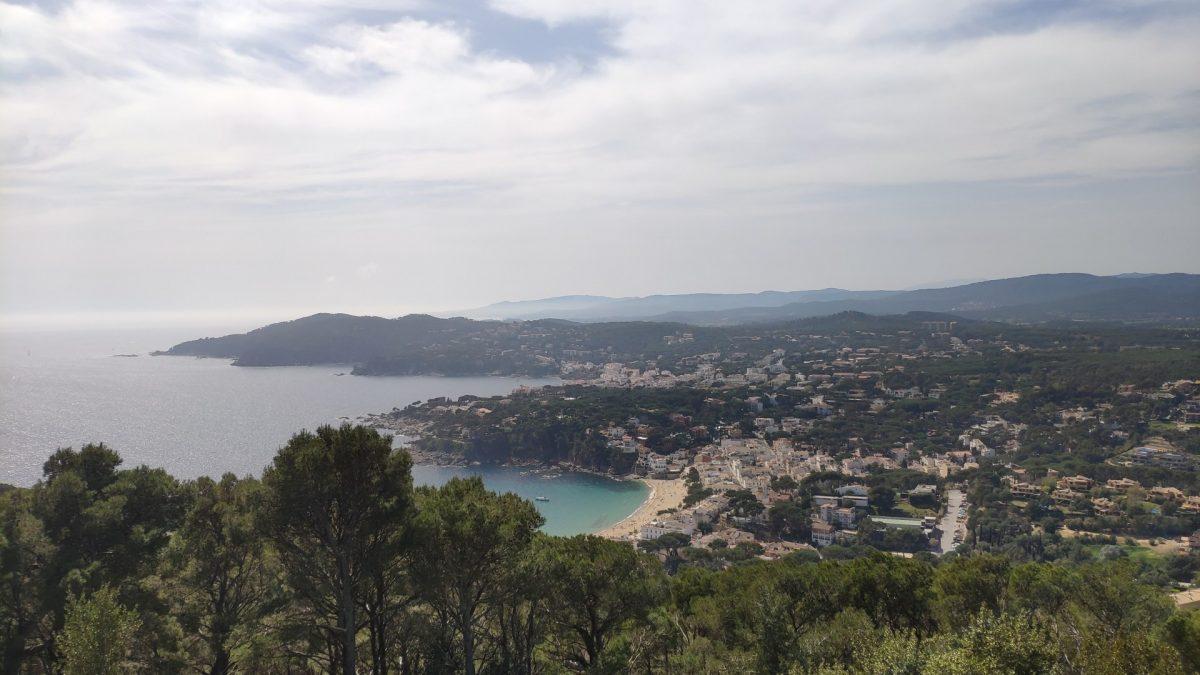 Vistas sobre Llafranc desde el Mirador del Cap de Sant Sebastià