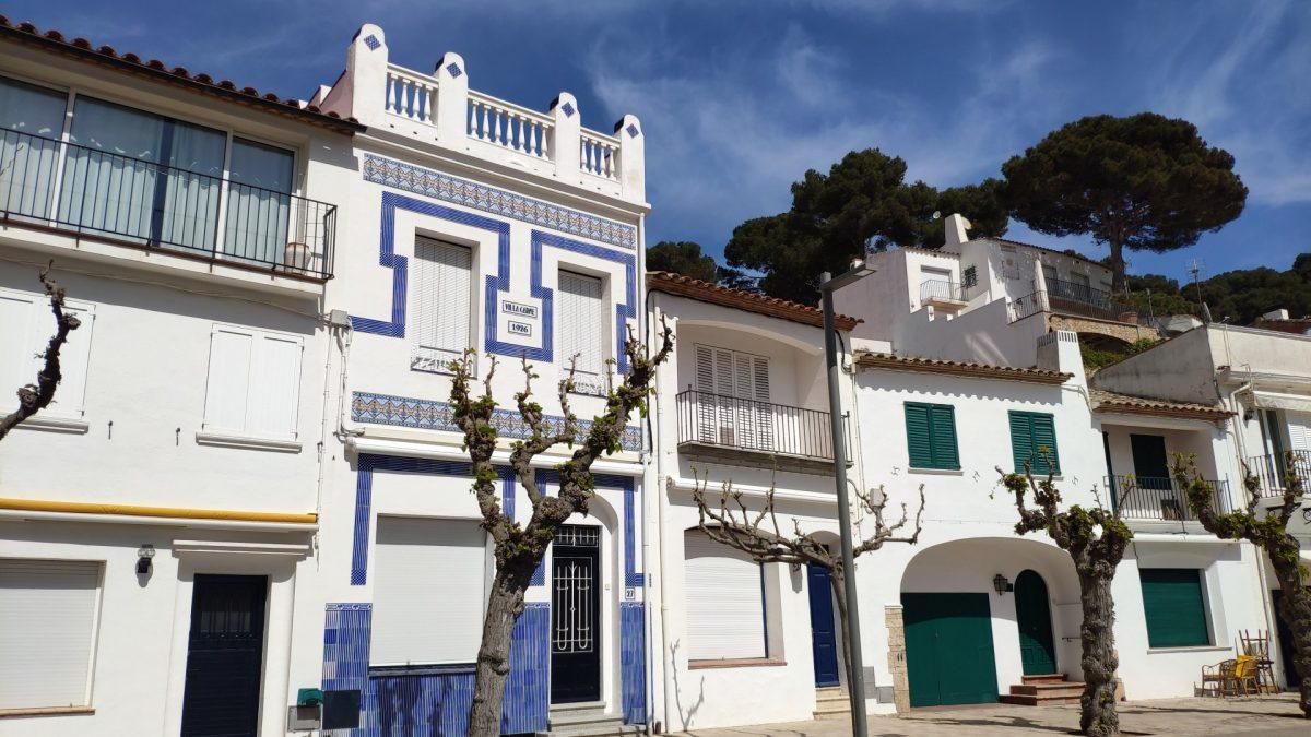 Casas en el Paseo Marítimo de Llafranc