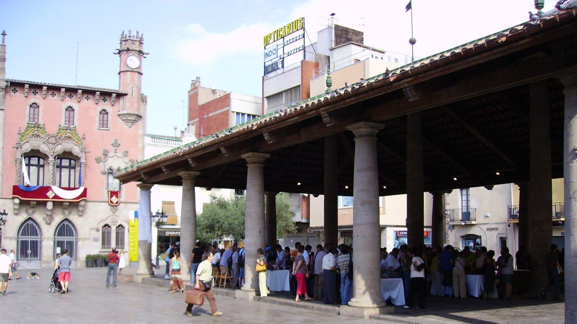 Plaça Porxada Granollers