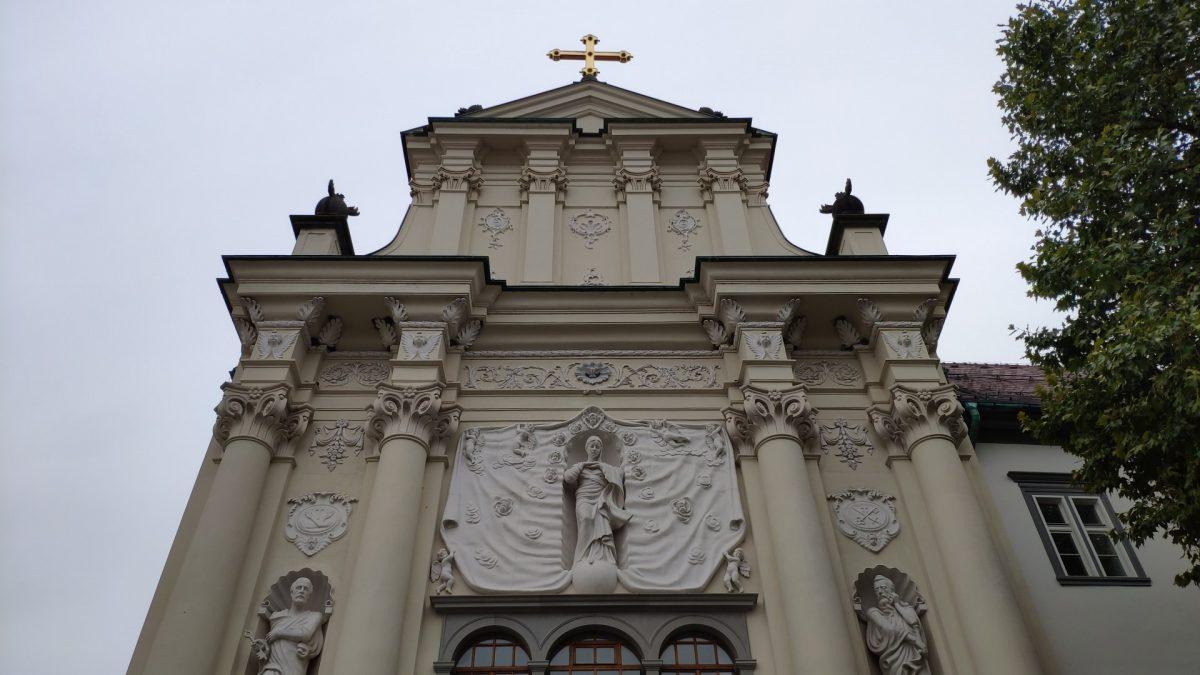 Fachada frontal del Monasterio Minorita